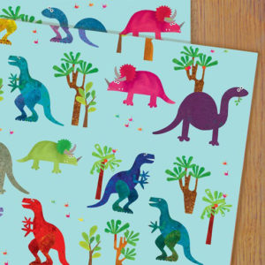 Dinosaurs wrapping paper