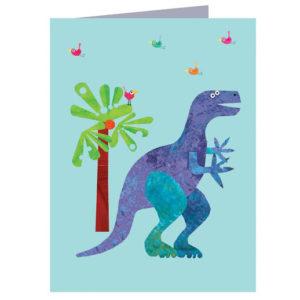 Mini dinosaur card