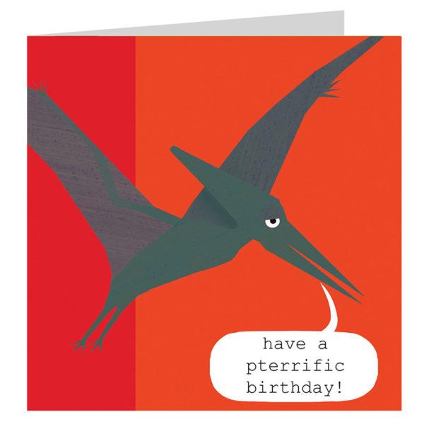 Pterodactyl birthday card